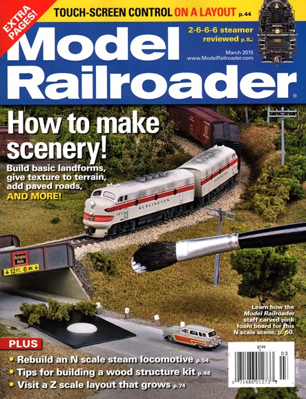 Model Railroader Cover - 3/1/2015