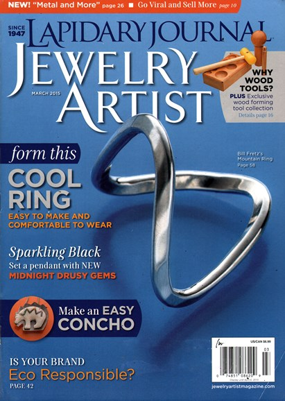 Lapidary Journal Jewelry Artist Cover - 3/1/2015