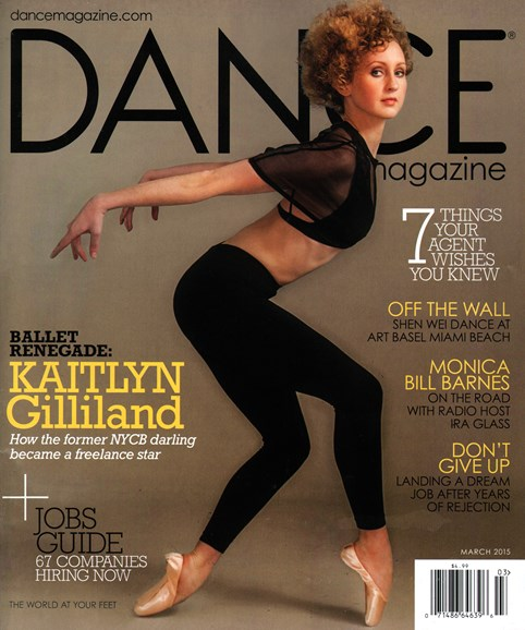 Dance Magazine Cover - 3/1/2015