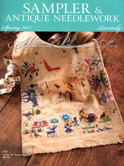 Sampler & Antique Needlework Qtry Magazine Cover - 3/1/2015