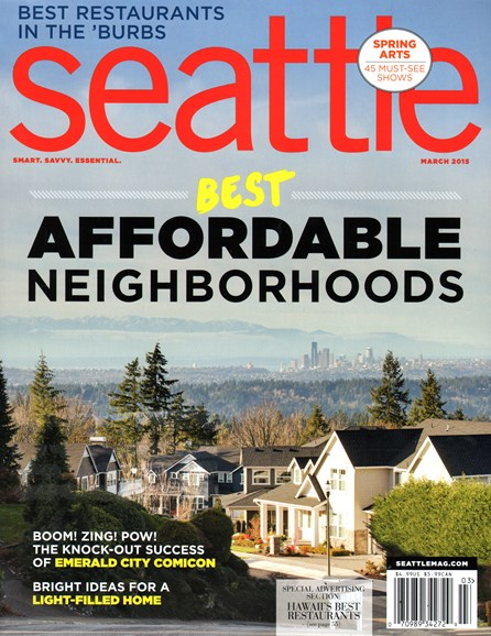 Seattle Magazine Cover - 3/1/2015