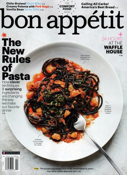 Bon Appétit Cover - 3/1/2015