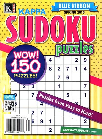 Blue Ribbon Kappa Sudoku Puzzles Cover - 3/1/2015