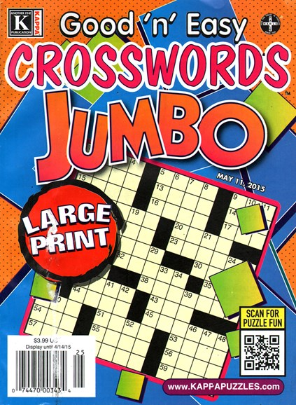 Good N Easy Crosswords Jumbo Cover - 5/11/2015