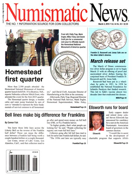 Numismatic News Cover - 3/3/2015