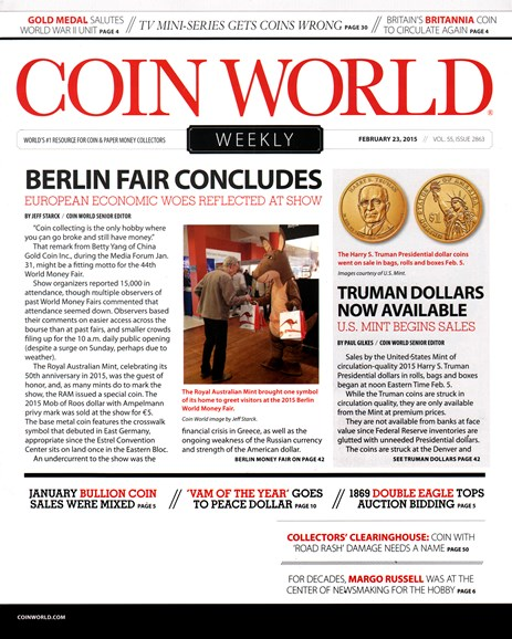 Coin World Weekly Cover - 2/23/2015