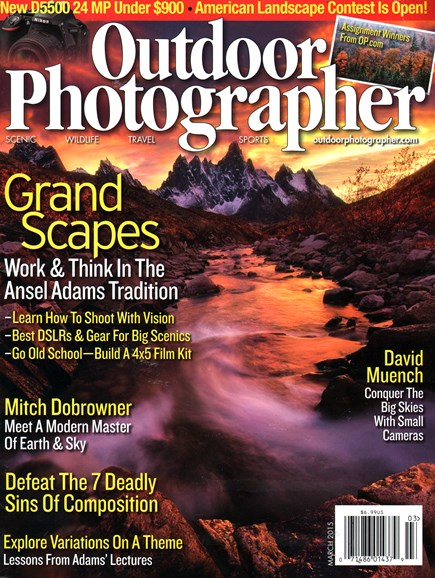 Outdoor Photographer Cover - 3/1/2015
