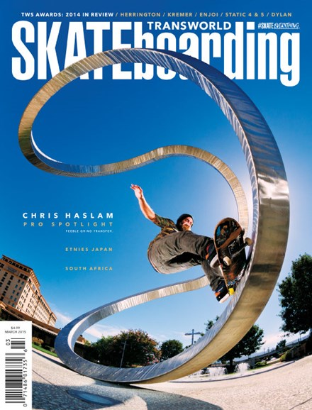 Transworld SKATEboarding Cover - 3/1/2015