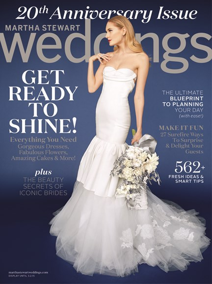 Martha Stewart Weddings Cover - 12/1/2014
