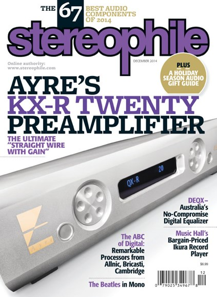 Stereophile Cover - 12/1/2014