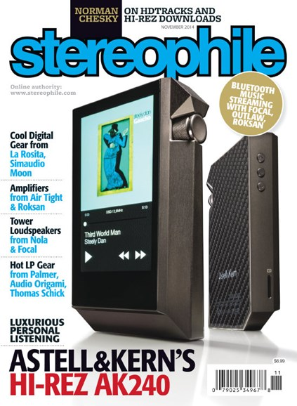 Stereophile Cover - 11/1/2014