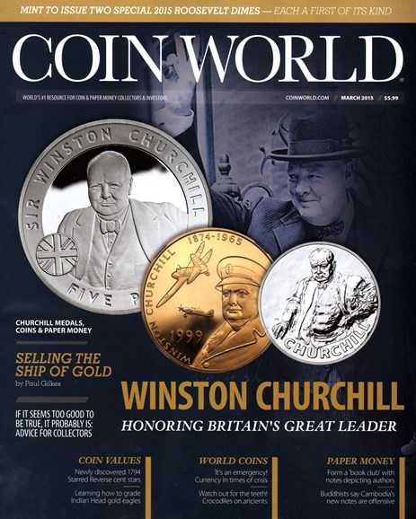 Coin World Weekly Cover - 3/1/2015