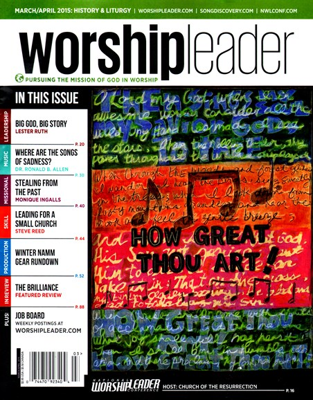 Worship Leader Magazine Cover - 3/1/2015