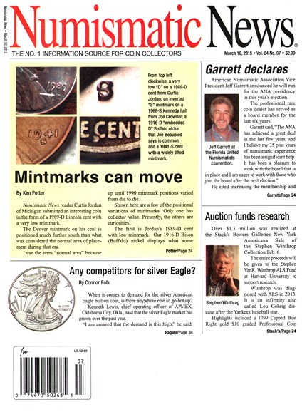 Numismatic News Cover - 3/10/2015