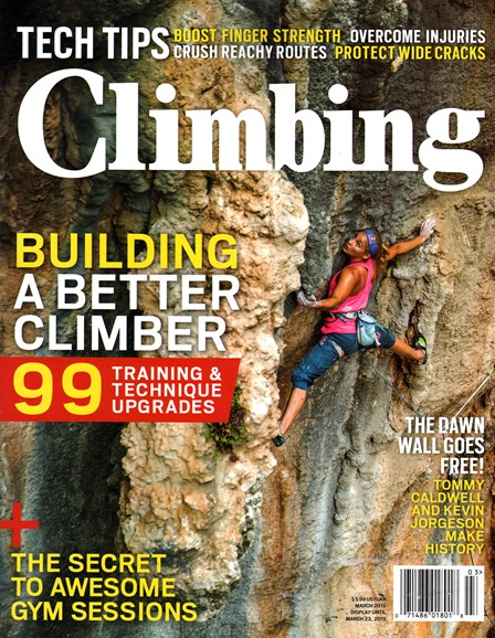 Climbing Magazine Cover - 3/1/2015