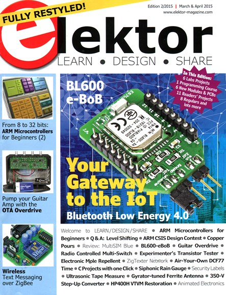 Elektor - North American Edition Cover - 3/1/2015