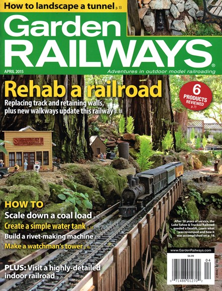 Garden Railways Cover - 4/1/2015