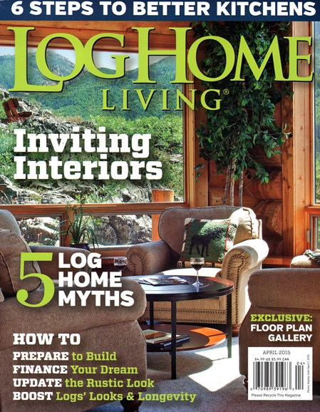 Log and Timber Home Living Cover - 4/1/2015