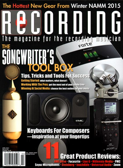 Recording Magazine Cover - 4/1/2015