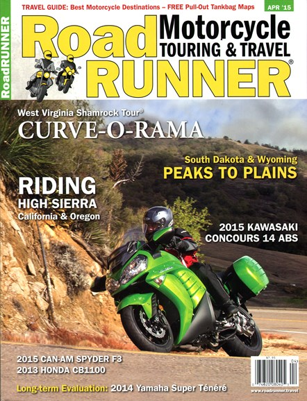Road RUNNER Motorcycle & Touring Cover - 4/1/2015