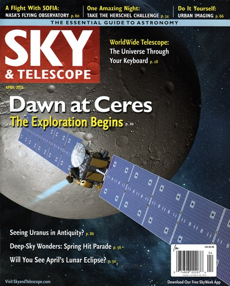 Sky & Telescope Cover - 4/1/2015