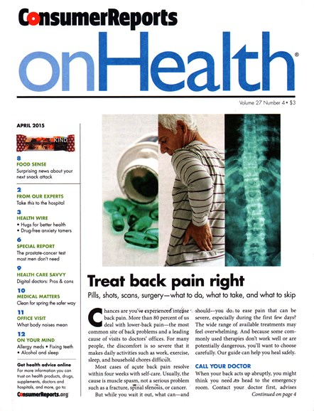 Consumer Reports On Health Cover - 4/1/2015