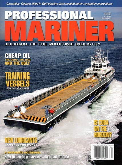 Professional Mariner Cover - 4/1/2015