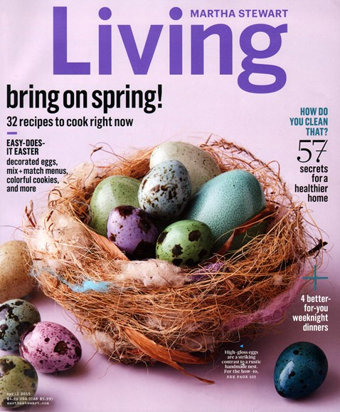 Martha Stewart Living Cover - 4/1/2015