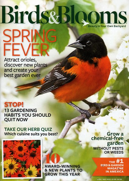 Birds & Blooms Cover - 4/1/2015