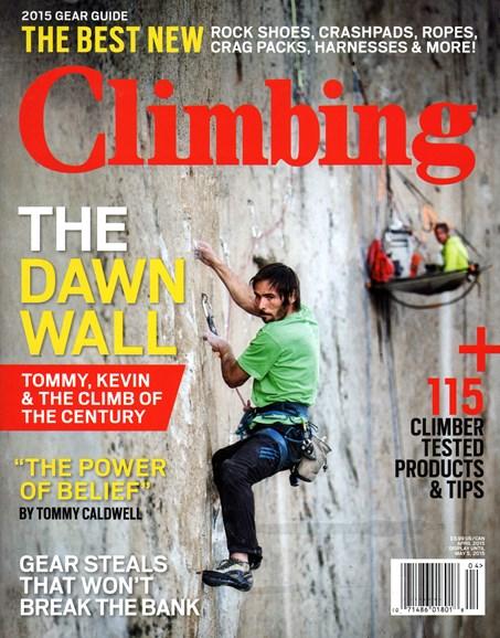 Climbing Magazine Cover - 4/1/2015