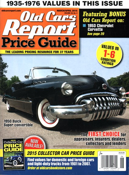 Old Cars Report Price Guide Cover - 3/1/2015