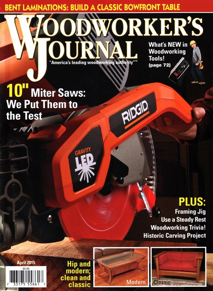 Woodworker's Journal Cover - 4/1/2015