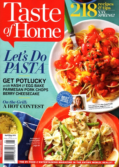 Taste of Home Cover - 4/1/2015