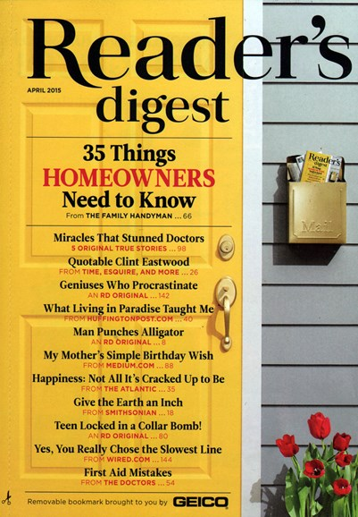 Reader's Digest Cover - 4/1/2015