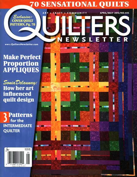 Quilter's Newsletter Cover - 4/1/2015