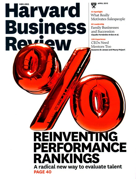 Harvard Business Review Cover - 4/1/2015