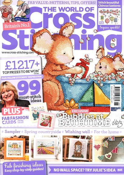 The World of Cross Stitching Cover - 3/1/2015