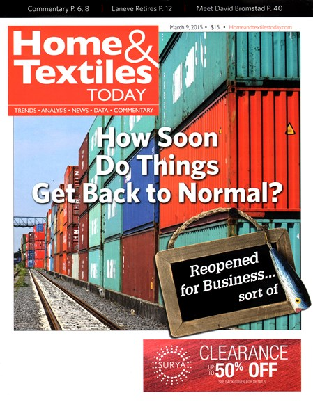 Home & Textiles Today Cover - 3/9/2015