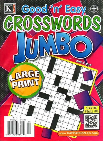 Good N Easy Crosswords Jumbo Cover - 6/8/2015