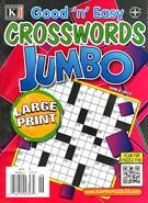 Good N Easy Crosswords Jumbo Magazine 6/8/2015