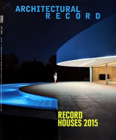 Architectural Record Cover - 4/1/2015