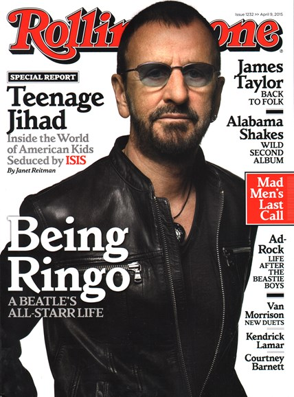 Rolling Stone Cover - 4/9/2015
