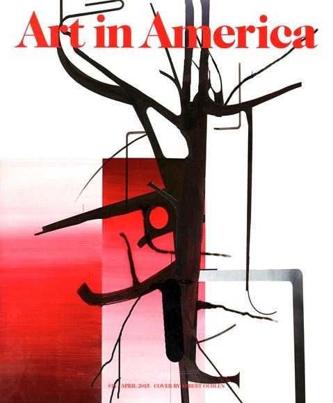 Art In America Cover - 4/1/2015