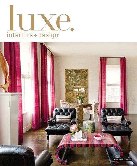 Luxe Interiors & Design Cover - 12/1/2014