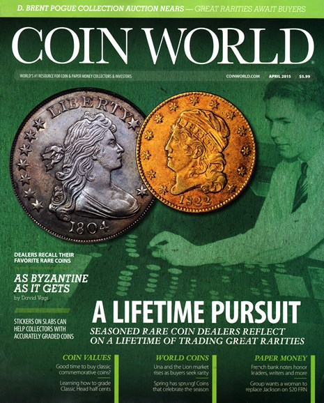 Coin World Weekly Cover - 4/1/2015