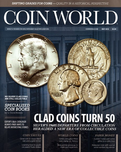 Coin World Weekly Cover - 5/1/2015