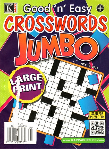Good N Easy Crosswords Jumbo Cover - 7/13/2015