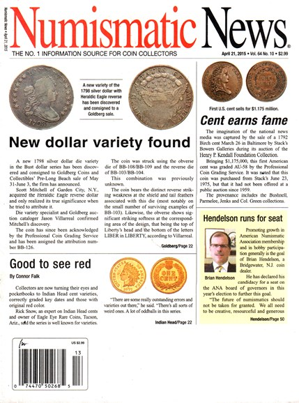 Numismatic News Cover - 4/21/2015