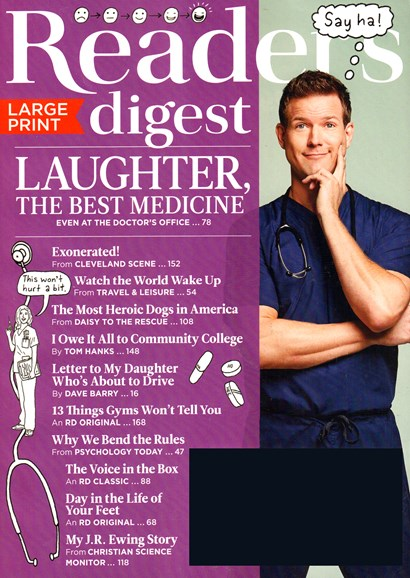 Reader's Digest - Large Print Edition Cover - 5/1/2015