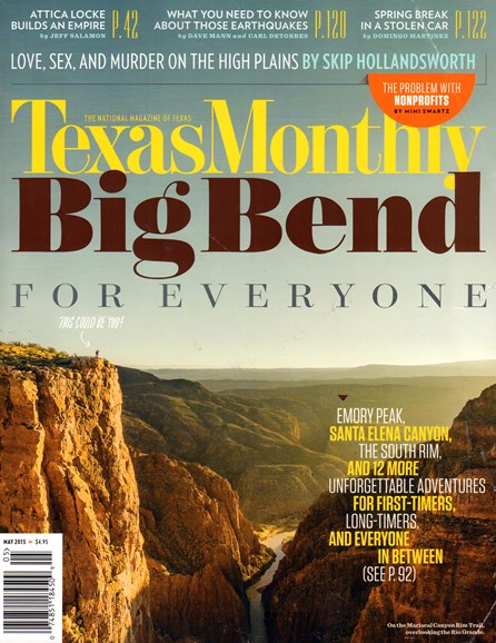 Texas Monthly Cover - 5/1/2015